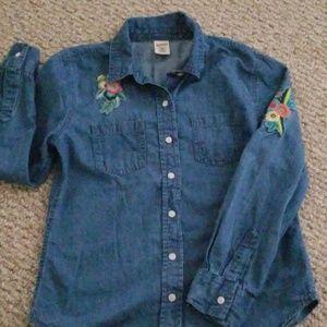 Long Sleeve Chambray Denim Shirt size 10/12